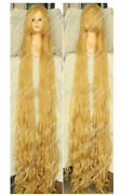 Blonde Tangled Rapunzel 100cm 150cm 200cm Long Wavy Curly Cosplay Party Wig Hair