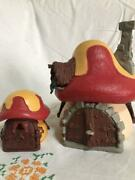 Smurf Mushroom House Large And Small