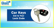 1991 - 1992 Jeep Wrangler Keys Cut To Your Lock Code Series G1001 - G1250