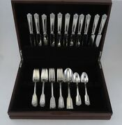 Vintage 40pc Sterling Silver Frank Smith Fiddle Shell Alden Flatware Set No Mono