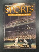 August 1954 Sports Illustrated 1st Issue W/baseball Cards Ex Mint+