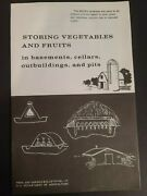 1973 Us Dept Agriculture Storing Vegetables Fruits In Outbuilding Basement Bookl