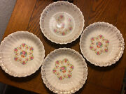 Lot Of 4 Franklinware 57x-264 Coupe Cereal Bowls Ivory Warranted 22k Gold Usa