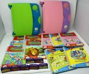 Lot Leap Frog Leap 2 Pads Working Learning System10 Books 7 Cart Large Lot Sb2