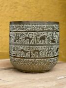 Anglo Indian Jaipur Engraved Brass Planter