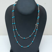 New David Yurman Collectible Bead And Chain Necklace In Turquoise And Silver 36
