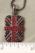 Nib Stephen Webster Alchemy In The Uk Union Jack Pendant Necklace Red And Black
