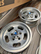 """Vintage Appliance Slot Mag Wheels 14x6 Chevy 5 On 4.75"""" 4 With Hubcaps"""