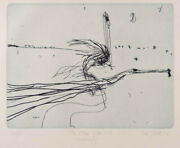 John Olsen Edge Of The Void - Signed Original Etching Lake Eyre Edition Of 50