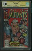 New Mutants 87 Cgc 9.8 3/90 Ss Rob Liefeld And Louise Simonson On Back Cover