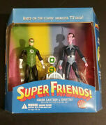 Super Friends Green Lantern And Sinestro Deluxe Action Figure Set Dc Direct