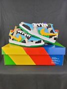 Nike Sb Dunk Low Ben And Jerry's Chunky Dunky Black/gold/lagoon Men's Size 6.5 Us