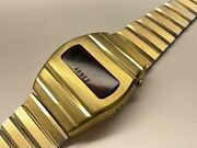 Vintage Arnex Led Wristwatch For Parts Or Repair