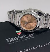 Fine And Rare Tag Heuer Chronometer 200m Bronze Dial S/steel Automatic Watch