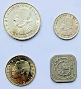 Lot 4 Coins Central America Islands. Nice