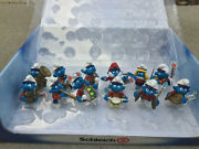 New Schleich Smurfs Marching Band Set 12 Pvc Figurines Complete With Display Box