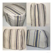 Blue And Gold Feedsack Kitchen Appliance Cover