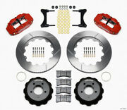 Wilwood Narrow Superlite 6r Front Hat Kit 14.00in Red For 93-96 Mazda Rx7 - Wil1