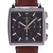 Auth Tag Heuer Watch Monaco Cw2114 Automatic Case 37mm Date Chronograph F/s