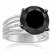 2.00 Ct Aaa Black Moissanite Round And Real Rough Diamond Men's Ring Real 10k Gold
