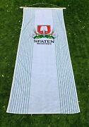 Rare Vintage Spaten Munchen Beer Flag Banner W/ Dowel And Finials 9+ft Long