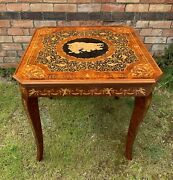Vintage Italian Inlaid Games Table, Card, Chess, Roulette, Backgammon, Poker Etc
