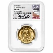 2009 Ultra High Relief Double Eagle Ms-70 Pl Ngc Mike Castle - Sku230865