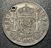 1783 Mo F F Mexico Silver 2 Reales Carlos Iii Spanish Colonial Pirate Coin