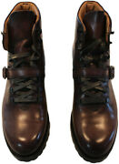 Berluti Menand039s Brown Lace Up Boots Italy Berluti Size 9.5 / U.s . Size 10 2650