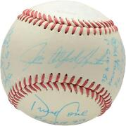 Mlb Perfect Game Pitchers Signed Toned Ball With 12 Sigs And Inscs - Psa B50815
