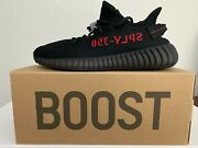 Adidas Yeezy Boost 350 V2 Bred Black/red Cp9652 Sizes 5-11 Authentic