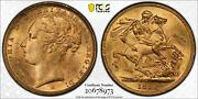 1886-m Australia St. George Gold Sovereign Coin Pcgs Ms62 8973