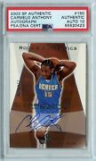 2003-04 Sp Authentic Carmelo Anthony Rookie Auto 120/500 150 Psa Auth Au 10