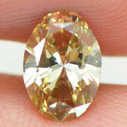 Oval Shape Diamond Fancy Yellow Brown Color Loose 1.00 Carat Si1 Gia Certificate