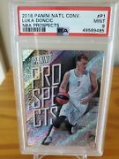 Luka 2018 Panini National Convention Luka Doncic Rc Silver Prospects /199 Psa 9