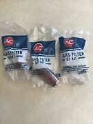 Nos Ac Gf441 Gm 5650906 Fuel Filters 1968-72 Chevy 454 Ci Oldsmobile 442 Qty 3