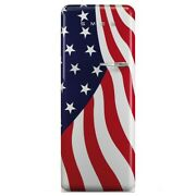 New Last Years Model Smeg 50and039s Retro Refrigerator With American Flag
