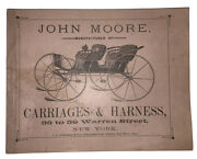 1880s John Moore Carriages And Harness Catalogue Horses Equestrian Illustrated
