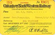 1913 North Western And Pacific Denver Colorado Agent Railroad Railway Rr Rwy Pass
