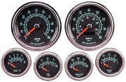 Jegs 41448 Retro Muscle Car 6-gauge Set Polished Stainless Steel Bezel Includes
