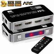 Hdmi Switch Audio Extractor Splitter Ir Remote Control Usb Power Cable Adapter