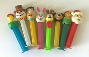 Vintage Pez Dispensers 70s - 2000s Lot 9 Mickey Santa Easter Bunny Snowman Odie