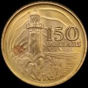 Singapore 1969 Gold 150 Dollars Km7 Uncirculated