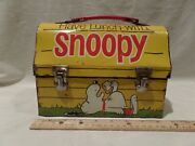 Vintage 1968 Snoopy Metal Dome Lunch Box By King-seeley