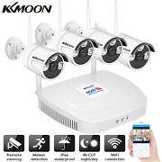 Kkmoon 4ch 2mp Wireless Nvr Outdoor Wifi Ip Camera Cctv Security System Kit J8s7