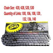 428 420 520 530 Chain W/ Master Link 100-140l Links For Xr Crf 50 70 Dirt Bike