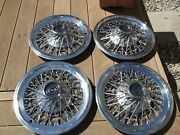 Wire Wheel Covers-hub Caps 1974 To 1979 Ford Thunderbird Set Of 4 Oem Used 15
