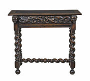 Early 19th Century Flemish Carved Walnut Side Table