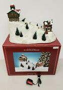 St. Nicholas Square Mr. Christmas The Village Collection Ski Hill 73277 Tested