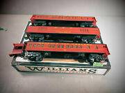 Williams 3 Norfolk And Western Madison Style Passenger Cars O.b. For Parts.